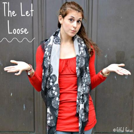 Let Loose Scarf Style via Fitful Focus #fitnfashionable #fashiontip #style #scarves #howto