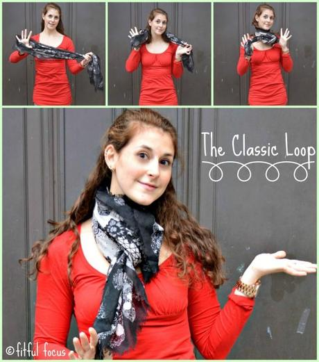 The Classic Loop Scarf Style via Fitful Focus #fitnfashionable #fashiontip #style #scarves #howto