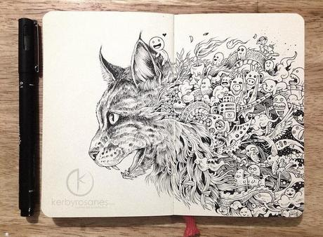 Fantastic Doodles In A Moleskin Notebook By Kerby Rosanes