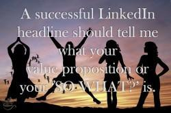 How to write a beneficial/clever LinkedIn headline.