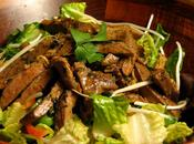 Asian Seared Beef Salad Sirloin Greens Herbs Minty Lemongrass Dressing