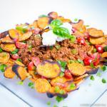 Fitness On Toast Faya Blog Girl Recipe Nutrition Healthy Health Diet Nutritious Tasty Clean Eating Meal Chile Con Carne Quorn Sweet Potato Light Lighter lower calorie fat natural organic training workout meals high protein complex carb SQUARE