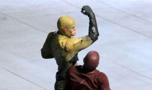 The Flash - First Look - Reverse-Flash-Prof Zoom Costume - Set Photos