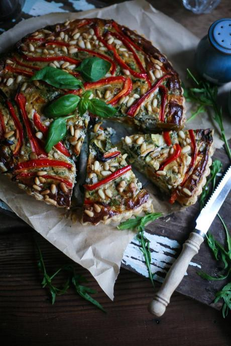 vegetable ricotta tart