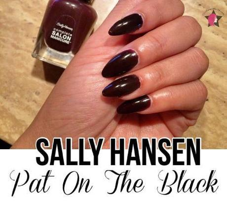 pat on the black Sally Hansen complete manicure swatch