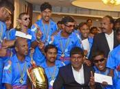 India Beats Blind Cricket World 2014 Shri Modi Meets Players