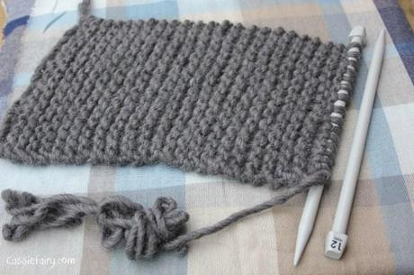 ombre color block scarf knitting project-4