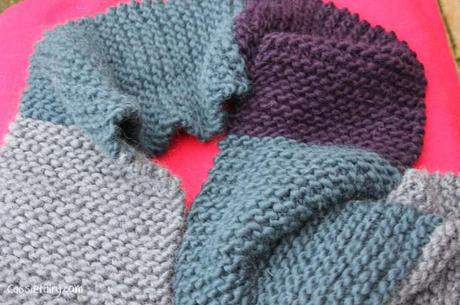 ombre color block scarf knitting project-10
