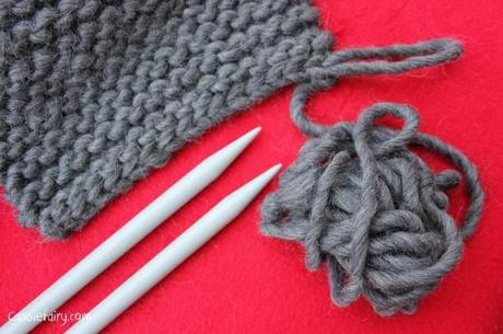 ombre color block scarf knitting project-9