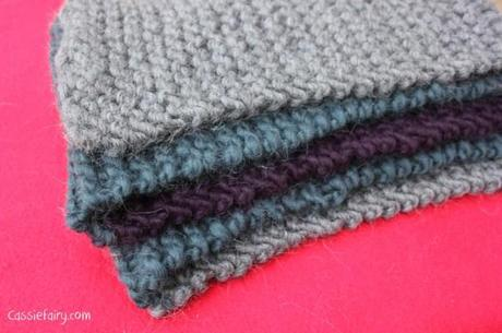 ombre color block scarf knitting project-11