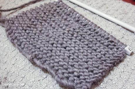 ombre color block scarf knitting project-3