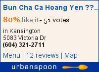 Bun Cha Ca Hoang Yen 皇燕越南美食 on Urbanspoon