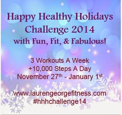 Happy Healthy Holidays Challenge - Week 4 Workouts