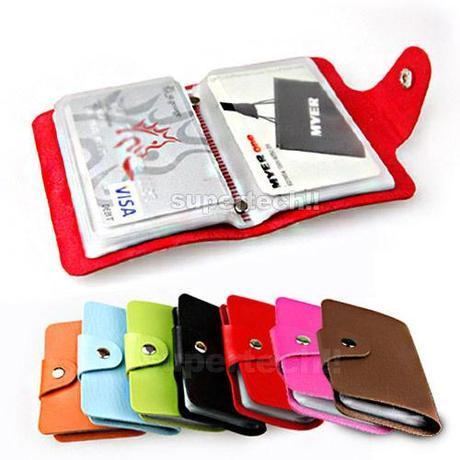 NEW-Leather-Business-ID-Credit-Card-Holder-Handbag-Purse-Storage-Case-Pocket