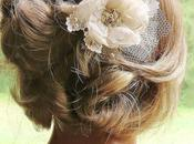 Champagne Wedding Hair Flower @FancieStrands