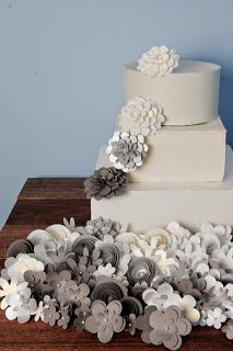 Pazzles cutter cut wedding cake paper flowers