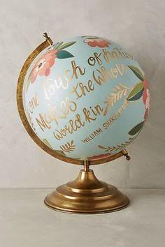 My Hand Painted Globe Knock-Off Do It Yourself Project and a Bit of Exciting Professional News