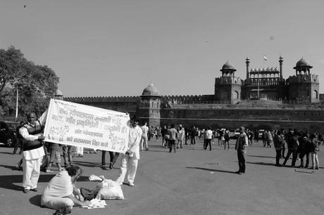 A campaign held by the supporters of a Baba, who was arrested for protesting against the killing of Cows in India.