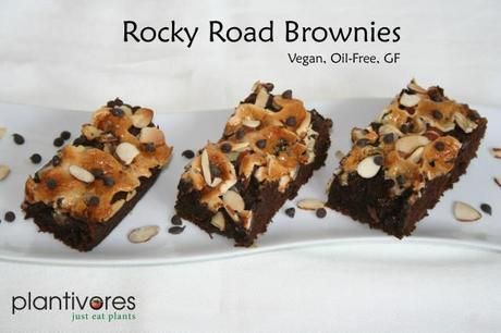 Rocky Road Brownies from Plantivores