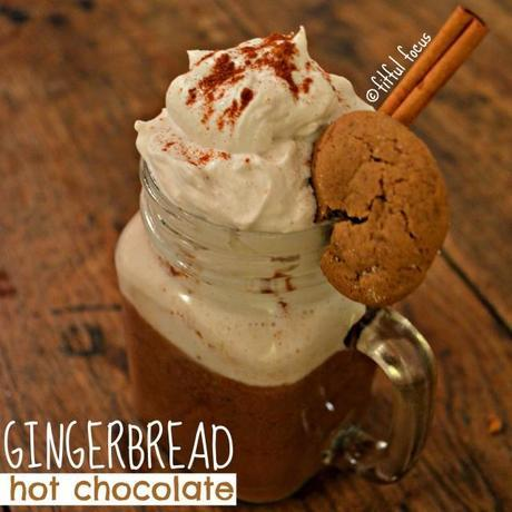 Vegan Gingerbread Hot Chocolate #vegan #gingerbread #recipe #hotchocolate #virtualveganpotluck