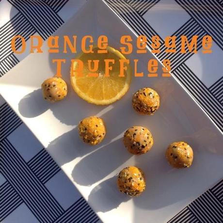 Orange Sesame Truffles from Rubber Cowgirl