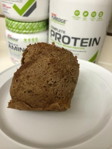 chocolate covered banana microwave muffin gnc puredge