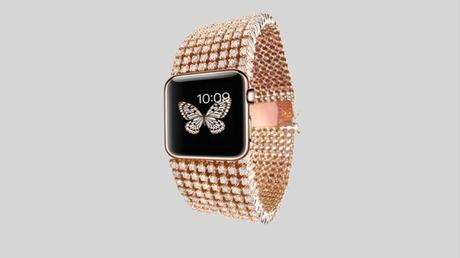 Diamond-encrusted Apple Watch