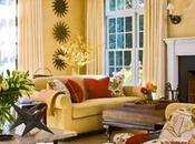 Living Room Design with Butter Yellow-Colored Gold Tones