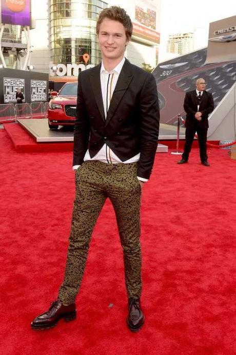 ansel elgort 2014 american music celebrity fashion