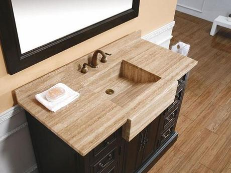 Cerenova Integrated Travertine Sink Vanity