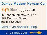 Damso Modern Korean Cuisine on Urbanspoon