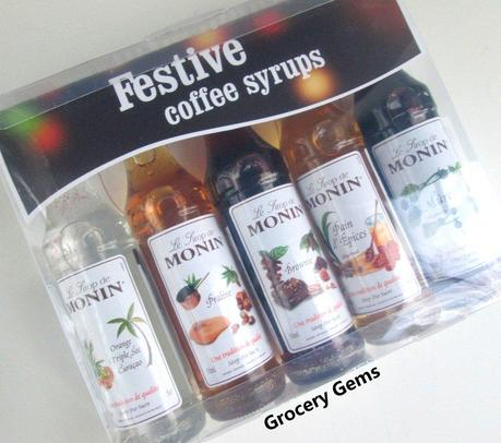 Christmas Gift Idea: Costa Coffee Monin Syrup Set