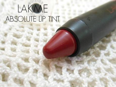 Lakme Absolute Lip Tint (Poptints Collection) Wine Punch : Review, Swatch, LOTD