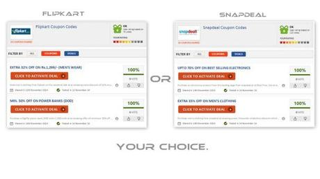 Buying from Flipkart or Snapdeal? Get your free coupons here.