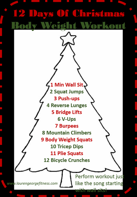 Workout Wednesday Christmas Eve Edition!