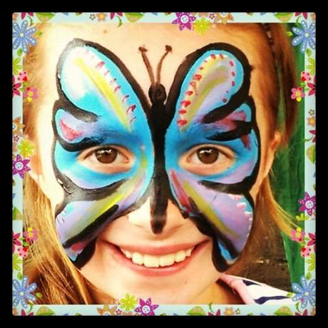 face painting butterfly by Simon Brushfield Face Painting and the Amazing Imagination of Children