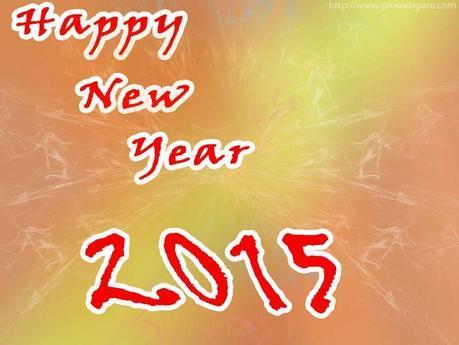 Fresh New Year 2015 Greetings Card Wallpaper