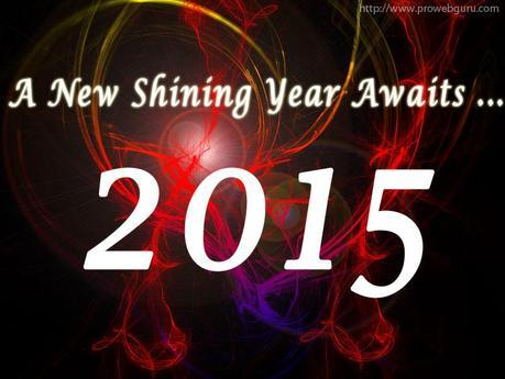 Black & Red Awesome New Year 2015 Wallpaper