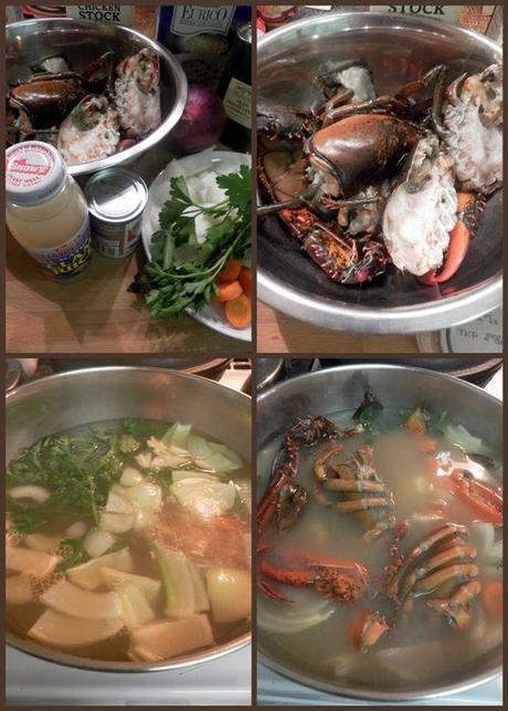 Lobster saffron risotto-collage1