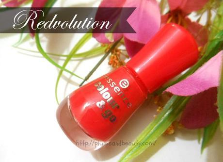 Essence Colour and Go Nail Enamel : Redvolution