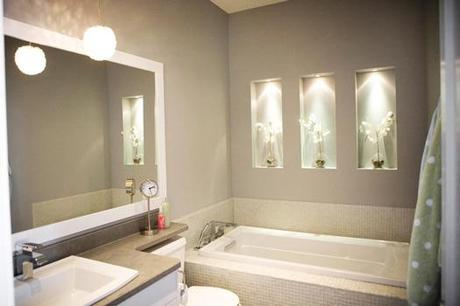Ambient Bathroom Lighting Recessed in Wall