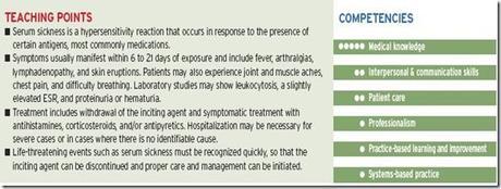 Serum sickness and serum sickness-like reactions