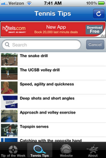 Free Tennis Tips With USPTA's iPhone App!