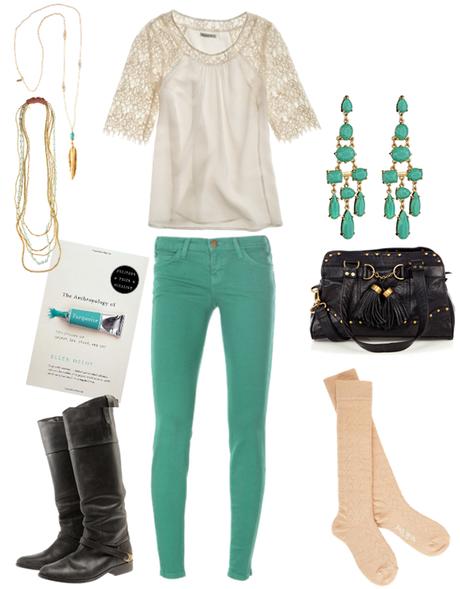 Cream + Turquoise…