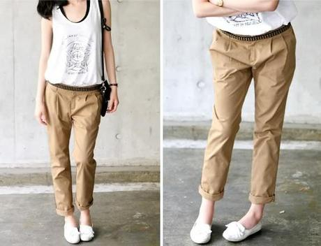 Womens Khaki Chino Pants