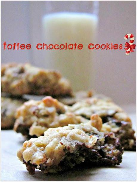 Easy Holiday Baking: Toffee Chocolate Cookies