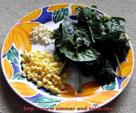 Spinach Corn Sandwich