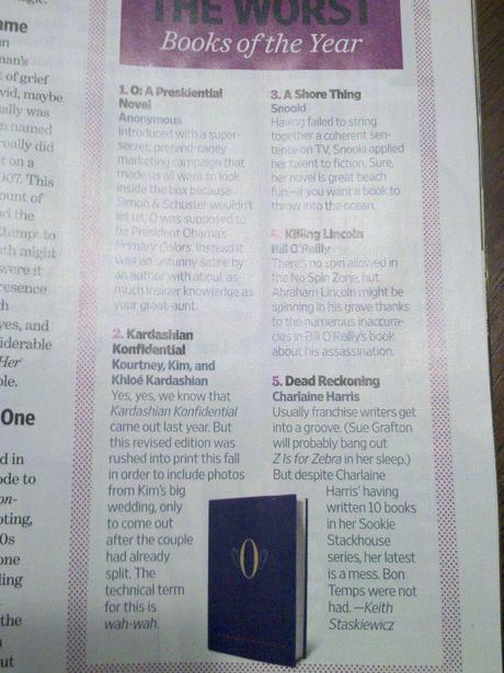 Charlaine's Thoughts On EW.com's Best & Worst of 2011