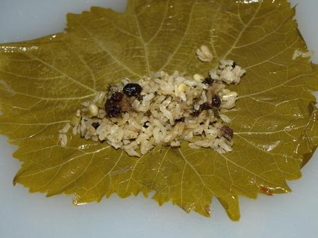 Vegetarian Grape Leaves (Dolmades) Recipes — Dishmaps