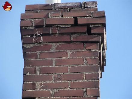 damaged chimney